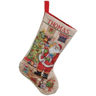 Classic Santa Stocking Counted Cross Stitch Kit 18 Long 28 Count