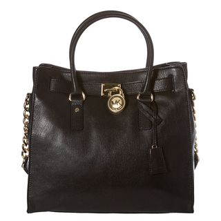 Michael by Michael Kors Hamilton Large Black Leather Tote Bag