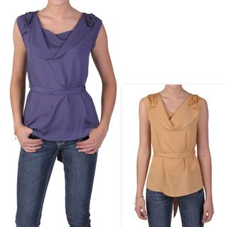 Tressa Designs Womens Sleeveless Cowl Neck Tunic
