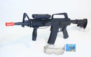 New M16A4 Airsoft Rifle Gun with Laser Glasses Toy Guns