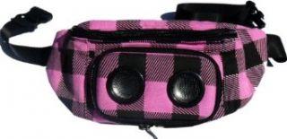 Jammy Pack Mens Nirvanii Plaid Speaker Bag, Pink, One