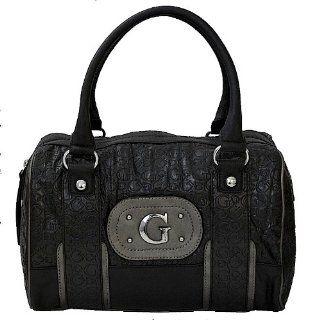 GUESS Black Signature Padma Satchel Tote Bag Handbag Shoes