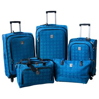 Jenni Chan Links 5 piece Fashion Spinner Luggage Set