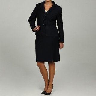 Calvin Klein Womens Navy 2 piece Skirt Suit