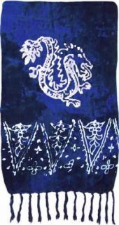 Dark Blue Dragon Sarong Clothing