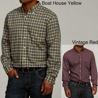 Nautica Mens Plaid Woven Shirt