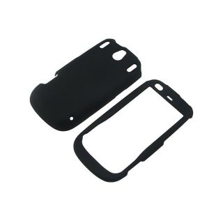 Eforcity Black Snap on Rubber Coated Case for Palm Pixi