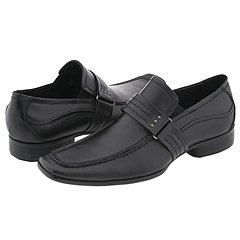 Kenneth Cole Reaction Pickup Note Black Leather Loafers