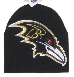 Baltimore Ravens NFL Team Apparel Large Logo Knit Beanie