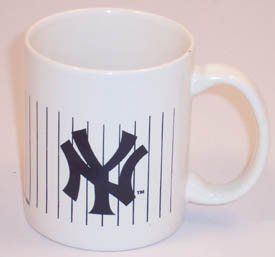 NEW YORK YANKEES MLB Baseball Ceramic PINSTRIPE COFFEE MUG