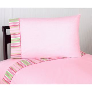Sweet JoJo Designs Pink and Green Jungle Friends Bedding Collection