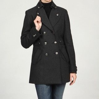Betsey Johnson Womens Wool Double breasted Coat