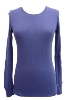 Laura Ashley Active Womens Knit Long Sleeve Top Blue