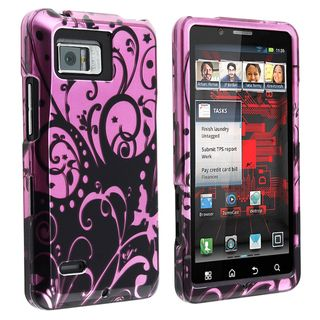 BasAcc Purple/ Black Snap on Case for Motorola Droid Bionic XT875