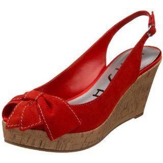 Unisa Womens Orange Slingback Sandal,Dark Red Suede,5 M US Shoes