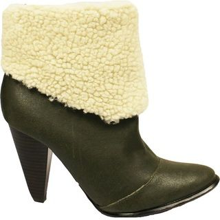 Toi et Moi Womens Latour 03 Khaki Fleece lined Booties