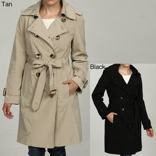 London Fog Womens Double breasted Rain Coat