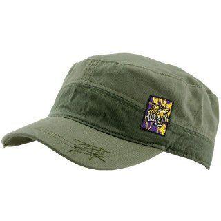 LSU Tigers Green Fatigue Adjustable Hat