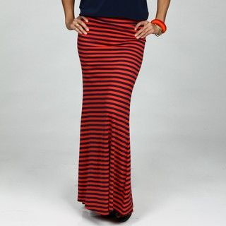 Jessica Simpson Juniors Striped Jersey Maxi Skirt