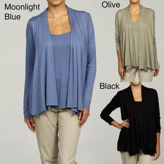 Eight Eight Eight Womens Open Front Top