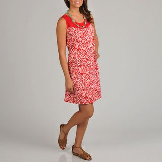 La Cera Womens Floral Print Dress