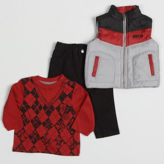 Kenneth Cole Infant Boys 3 piece Puffer Vest and Pant Set