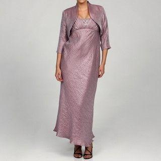 Patra Ltd Womens Shimmer Bolero Jacket and Dress Set