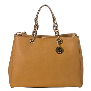 MICHAEL Michael Kors Cynthia Tan Saffiano Leather Satchel