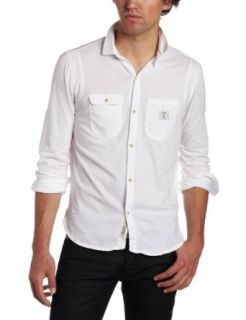 Diesel Mens Stuer Shirt, White, Small Clothing