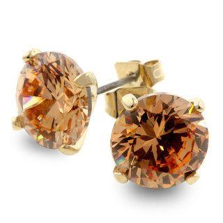 Kate Bissett Champagne CZ Fashion Stud Earrings