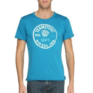 DIESEL T Shirt Temigox Homme Turquoise Turquoise   Achat / Vente T