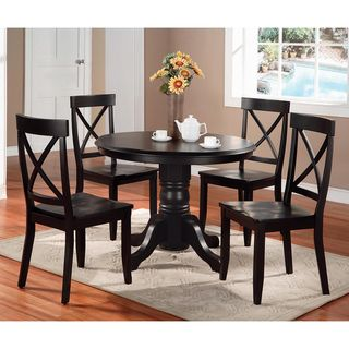 Home Styles Black 5 piece Dining Furniture Set