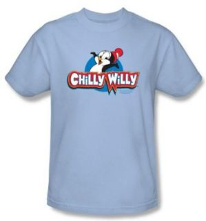 Chilly Willy T shirt TV Show Willy Logo Adult Light Blue