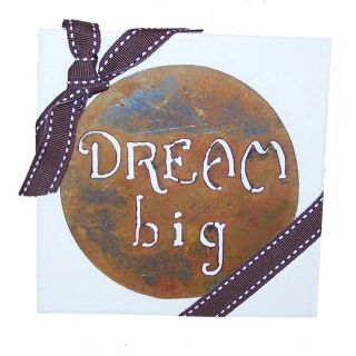 Wood and Metal Dream Big Wall Hanging (U.S.A.)