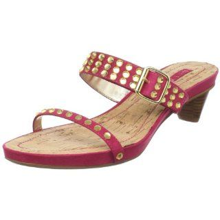 West Womens Secret Double Band Slide,Dark Pink Fabric,8.5 M US Shoes