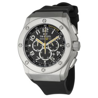 TW Steel Mens Renault F1 Team Pilot Stainless Steel Quartz Watch