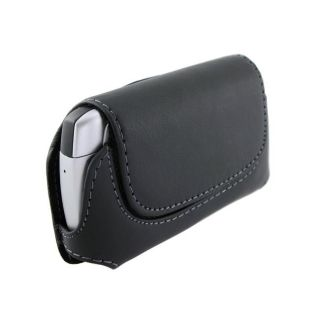 Black Horizontal Leather Case for Blackberry/ HTC