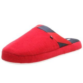 Tommy Hilfiger Womens Addy Slipper,Red/Navy,S Shoes