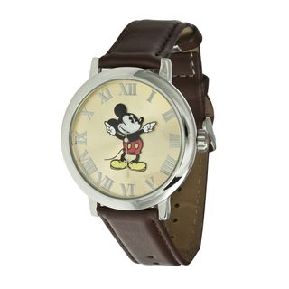 Disney Ingersoll Womens Brown Mickey Mouse Watch
