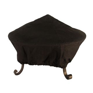 Black Fabric 30 inch Fire Pit Cover
