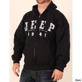 Jeep Mens Logo Zip front Hooded Sweatshirt
