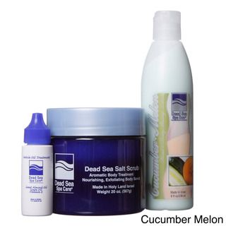 Dead Sea Spa Care Salt Scrub, Massage Lotion and Cuticle Oil Set