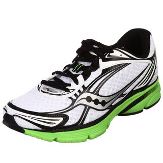 Saucony Mens Mirage 2 White/ Green Running Shoes