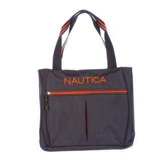 Nautica Helmsman Grey / Orange Boat Tote Bag