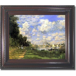 Claude Monet Bassin dArgenteuil Framed Canvas Art