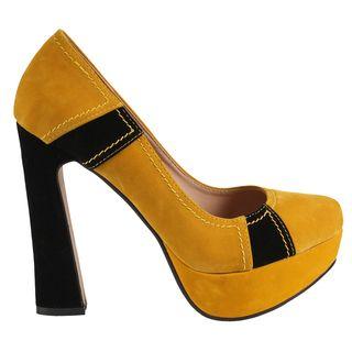 Machi by Beston Womens Candies 2 Chunky Heel Pumps