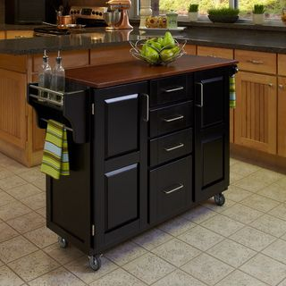 Home Styles Create a Cart Black Finish Cart