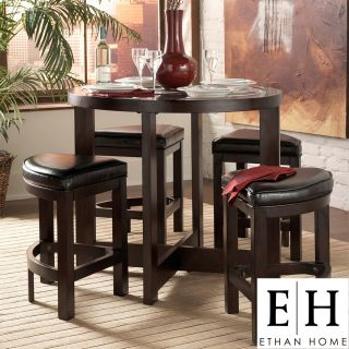 ETHAN HOME Capria Brown 5 piece Counter Height Pub Dining Set Today $