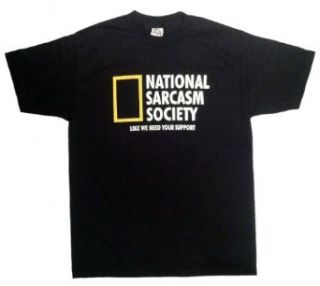 National Sarcasm Society Funny Mens T shirt Clothing