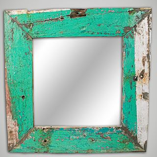 Ecologica Furniture Nautical Reclaimed Wood Mirror